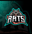 rat mascot logo design with modern