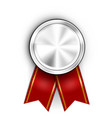 realistic award medal winner champion silver medal vector image