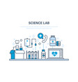 science lab healthcare medicine equipment vector image