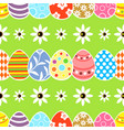 seamless easter background card green vector image