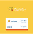 secure mail logo design with business card vector image vector image