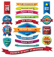 set retro vintage badges and labels flat design vector image vector image