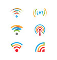 signal wi-fi design vector image vector image