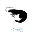 silhouette shrimp linear silhouette shrimp vector image