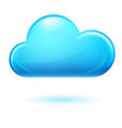 single cumulus cloud on white background vector image