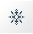 snowflake icon line symbol premium quality vector image