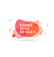 speech bubble banner poster abstract vector image vector image