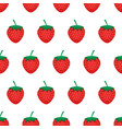 strawberry background seamless pattern with red vector image vector image