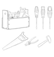 tools contours set vector image vector image