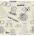 Vintage wedding seamless texture vector image vector image