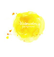 watercolor yellow abstract hand painted background vector image vector image