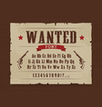 wild west wanted font poster with letters vector image vector image