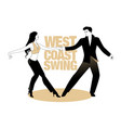 young couple dancing swing west coast style vector image vector image