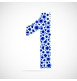 number one made from balls vector image