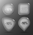 -10 Glass buttons vector image