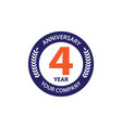 4 year anniversary template design vector image