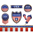 4th july badges vector image