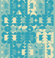 abstract blue geometric design pattern vector image vector image
