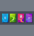 abstract modern background geometric shapes and vector image