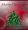 abstract red round bokeh background with christmas vector image