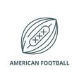 american football line icon american vector image