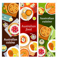 australian food cuisine menu dishes meals banners