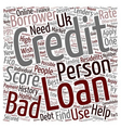 Bad Credit Personal Loan A changed attitude of vector image vector image