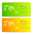 Banners with globe maps vector | Price: 1 Credit (USD $1)