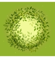 Beautiful green wreath vector image