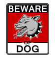 beware angry dog pop art vector image vector image