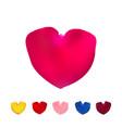 big pink shape of heart vector image vector image