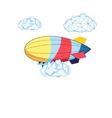 bright airship vector image vector image