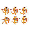Cannibal Cat Running Sprite vector image vector image