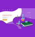 chemistry school discipline college subjects vector image vector image