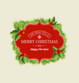 christmas wreath concept vector image vector image
