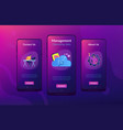 cloud management app interface template vector image vector image
