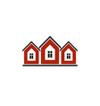 Colorful holiday houses home image Tourist vector image