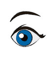 comic eye looking vector image vector image