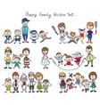 Doodle happy family sketch vector image vector image