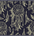 dream catcher sketch seamless pattern vector image