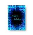 festive catalog with neon light vector image vector image