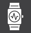 fitness tracker glyph icon fitness and sport vector image vector image