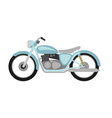 flat style retro motorcycle vector image vector image