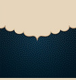 frame on a background with golden polka dots vector image vector image