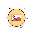 gellery basic ui icon design vector image