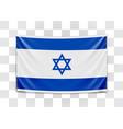hanging flag israel state israel israeli vector image