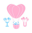 Heart balloons floating with alphabet i and u