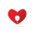 heart red with wine vector image vector image