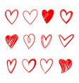 heart series set vector image vector image