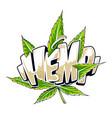 hemp graffiti art vector image vector image